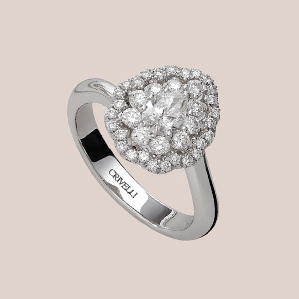 Anello fidanzamento diamanti 02 | I Will I Do Crivelli Collezione Sposa