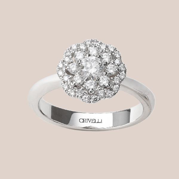 Anello fidanzamento diamanti 01 | I Will I Do Crivelli Collezione Sposa