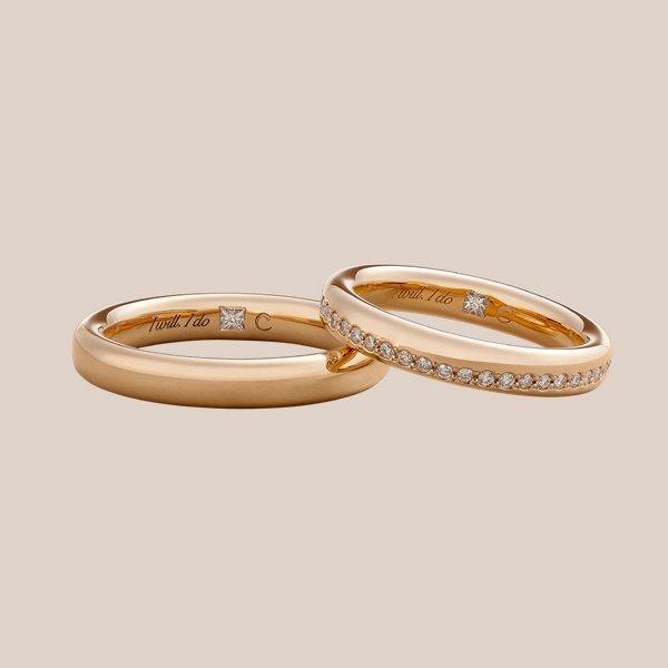 Fedi nuziali in oro rosa | I Will I Do Crivelli gioielli sposa
