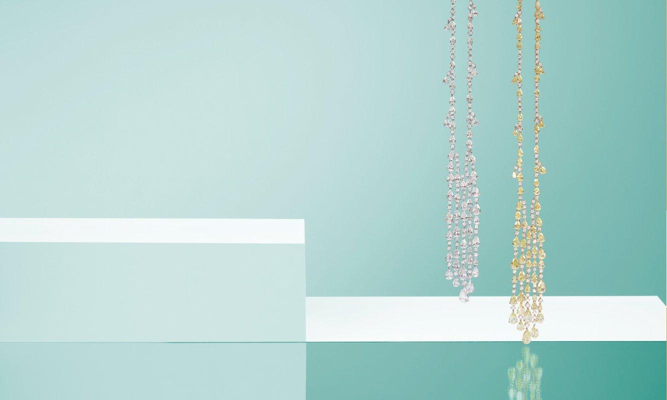 Collana oro bianco con diamanti. Collana in oro rosa con diamanti. | Crivelli Official