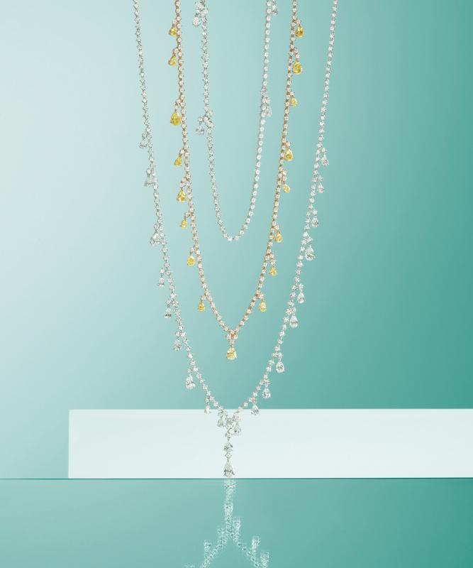Collane oro bianco, con diamanti. | Crivelli Official