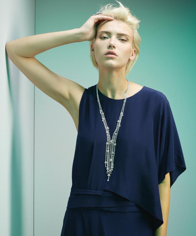 Collana oro bianco e diamanti. | Crivelli Official