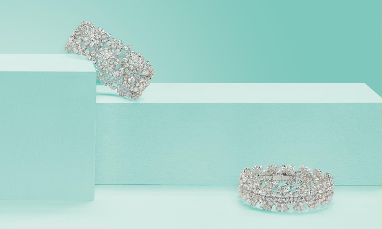 Bracciali oro bianco e brillanti. | Crivelli Official