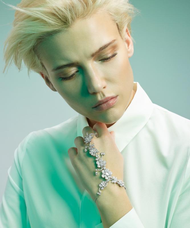 Bracciale oro bianco e brillanti. | Crivelli Official