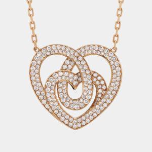 Girocollo INFINITO grande full pavé | Collezione ORA PIÙ CHE MAI Crivelli | Collana cuore oro rosa e pavé di brillanti