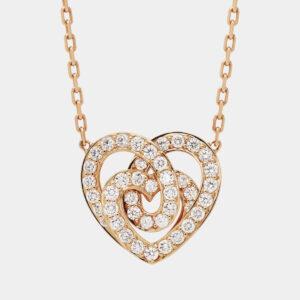 Girocollo INFINITO piccolo full pavé | Collezione ORA PIÙ CHE MAI Crivelli | Collana cuore oro rosa e pavé di brillanti