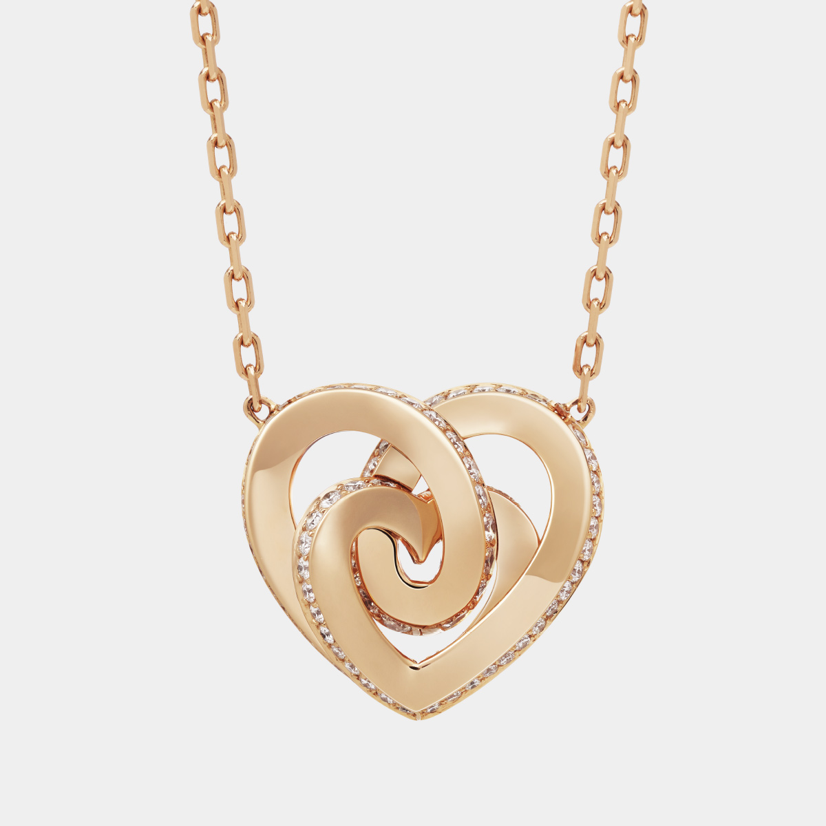 Girocollo INFINITO Collezione ORA PIÙ CHE MAI Crivelli | Collana cuore oro rosa e diamanti