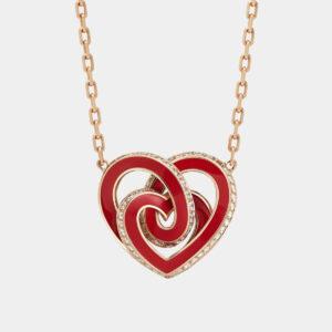 Girocollo INFINITO | Collezione ORA PIÙ CHE MAI Crivelli | Collana cuore rosso oro rosa e diamanti