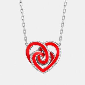 Girocollo INFINITO | Collezione ORA PIÙ CHE MAI Crivelli | Collana cuore rosso oro bianco e diamanti