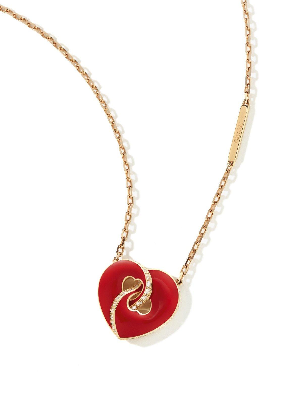 Red heart Necklace ABBRACCIO heart shaped necklace ORA PIÙ CHE MAI Crivelli